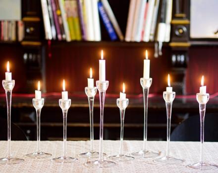 im Kerzenschein Gutes essen...